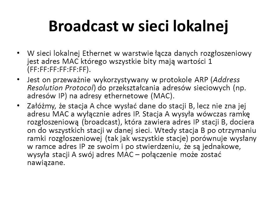 Broadcast w sieci lokalnej