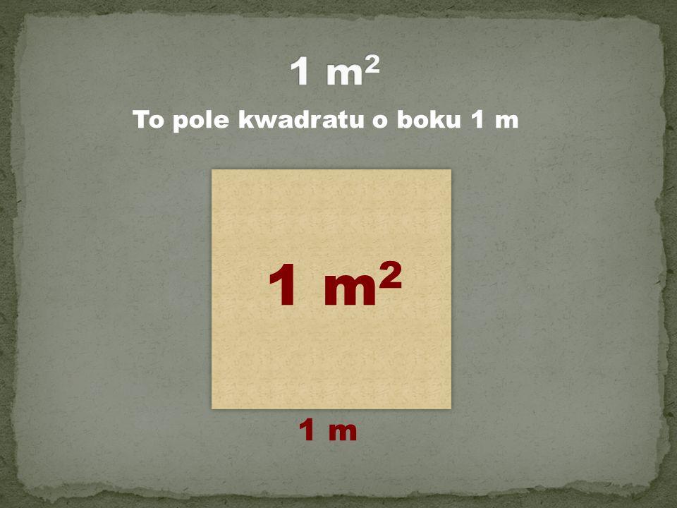 1 m2 To pole kwadratu o boku 1 m 1 m2 1 m