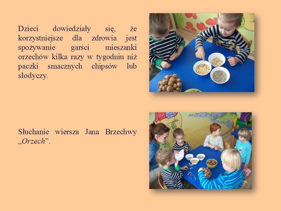 Dzieci dowiedziały się, że korzystniejsze dla zdrowia jest spożywanie garści mieszanki orzechów kilka razy w tygodniu niż paczki smacznych chipsów lub słodyczy.