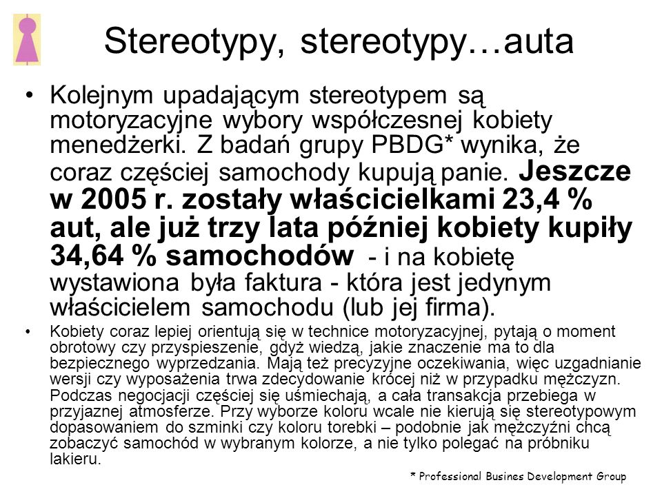 Stereotypy, stereotypy…auta