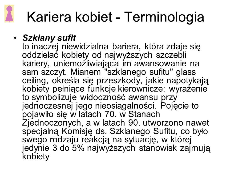 Kariera kobiet - Terminologia