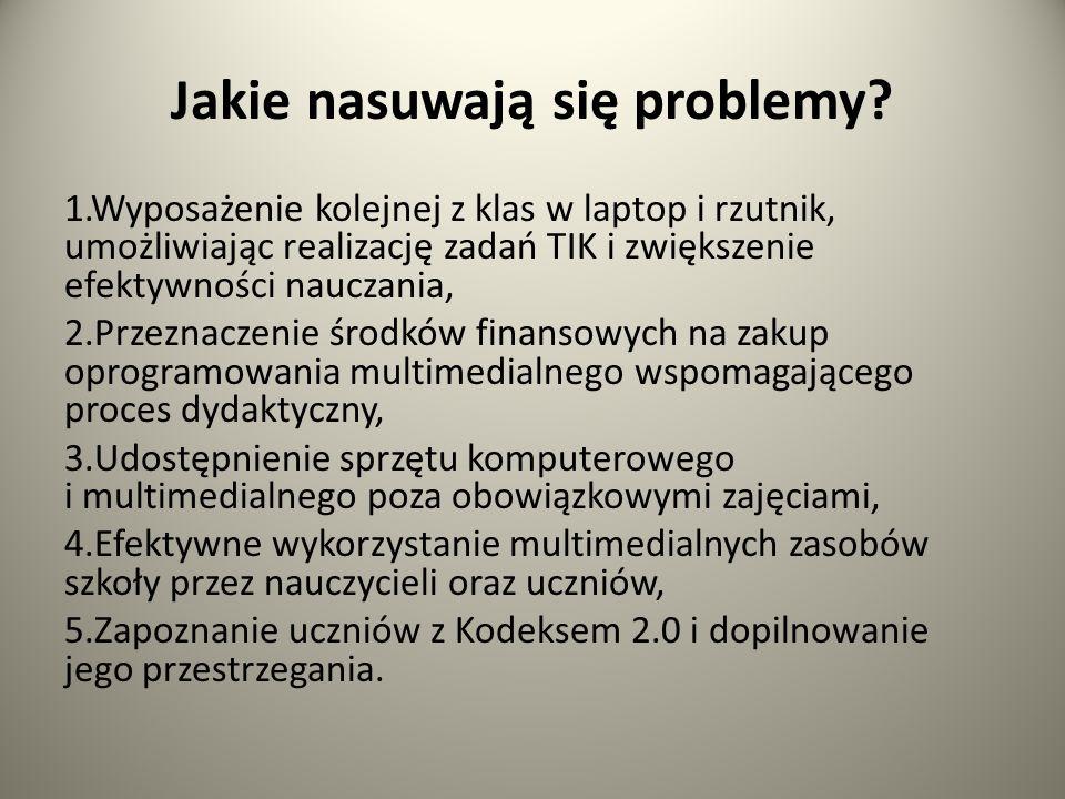 Jakie nasuwają się problemy