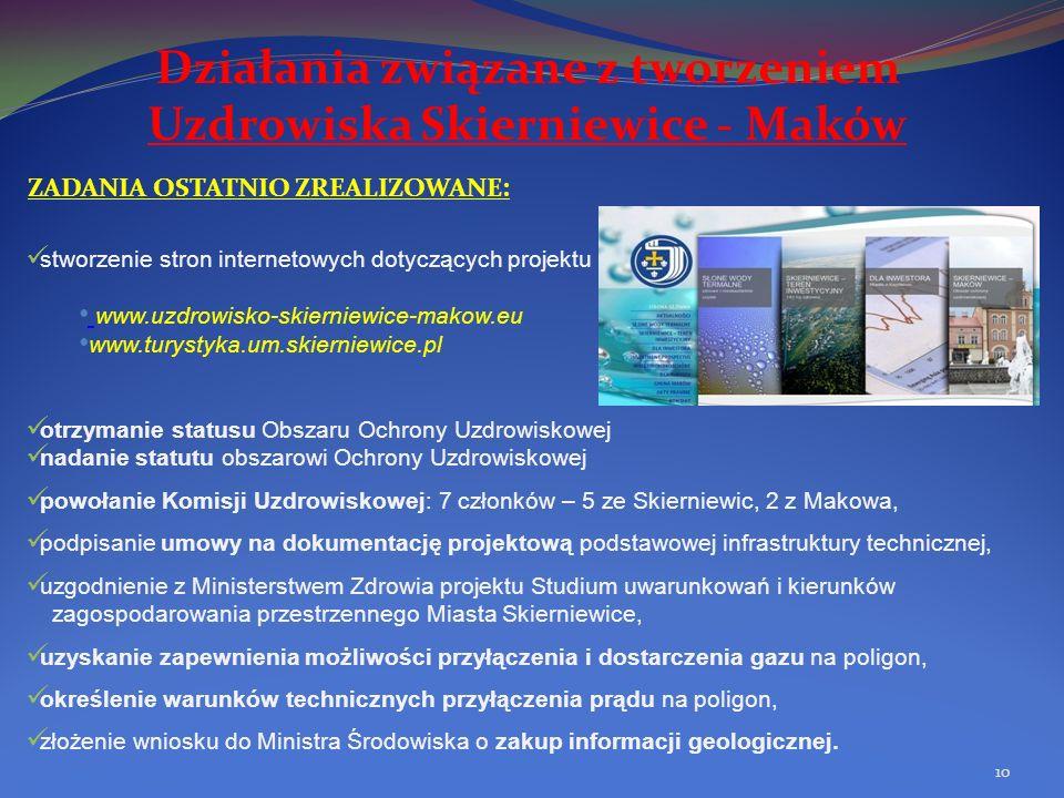 Działania związane z tworzeniem Uzdrowiska Skierniewice - Maków