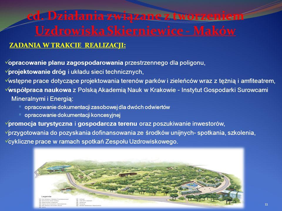 cd. Działania związane z tworzeniem Uzdrowiska Skierniewice - Maków