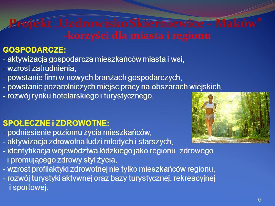 """Projekt """"Uzdrowisko Skierniewice – Maków"""