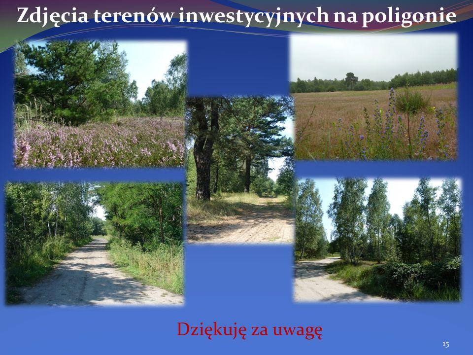 Zdjęcia terenów inwestycyjnych na poligonie