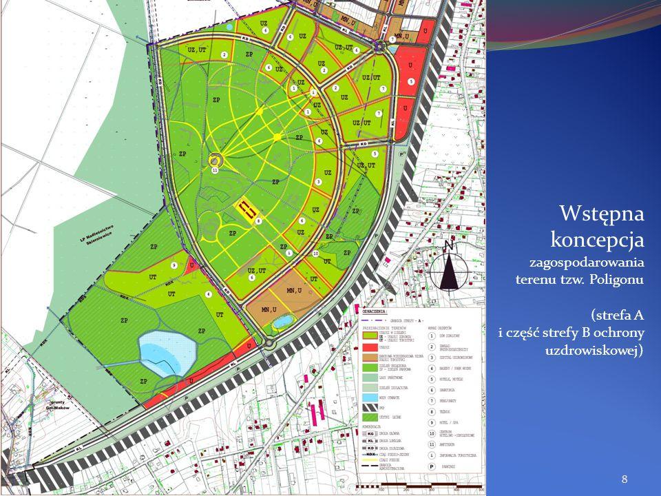 Wstępna koncepcja zagospodarowania terenu tzw. Poligonu