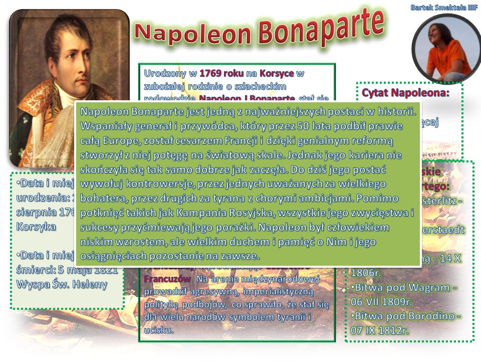 Napoleon Bonaparte Cytat Napoleona: