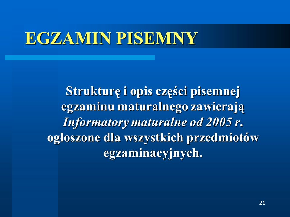 EGZAMIN PISEMNY