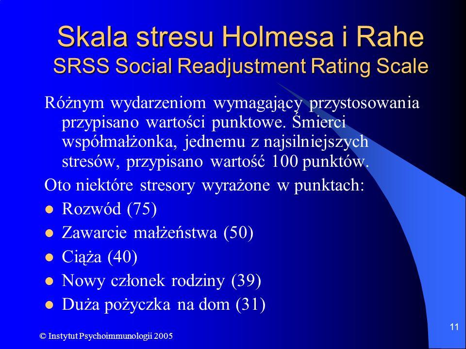 Skala stresu Holmesa i Rahe SRSS Social Readjustment Rating Scale