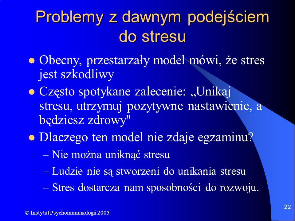Problemy z dawnym podejściem do stresu
