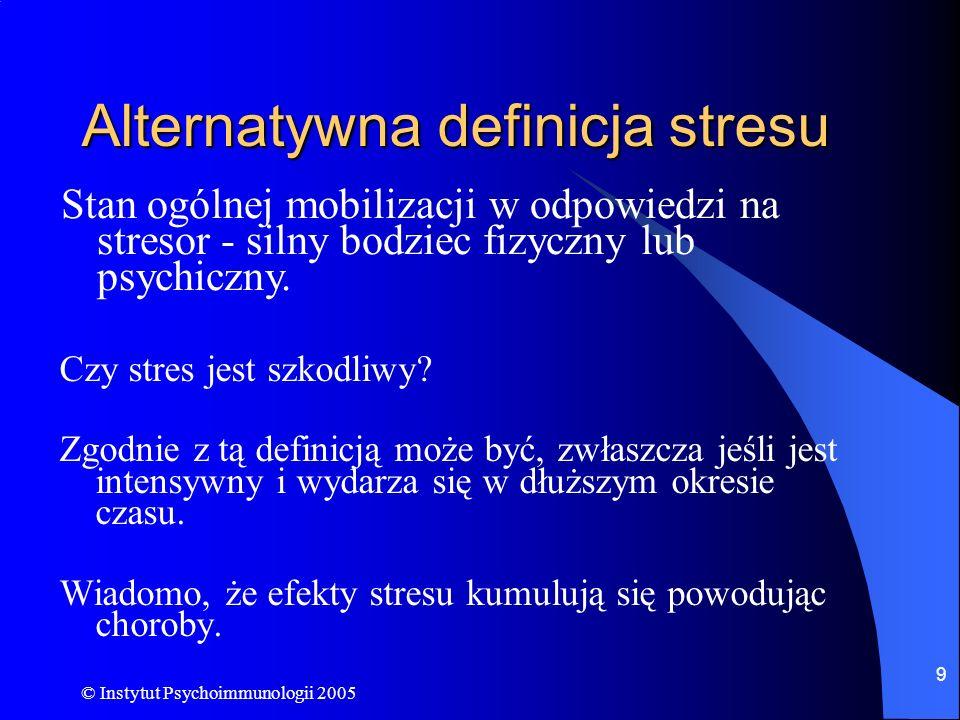 Alternatywna definicja stresu
