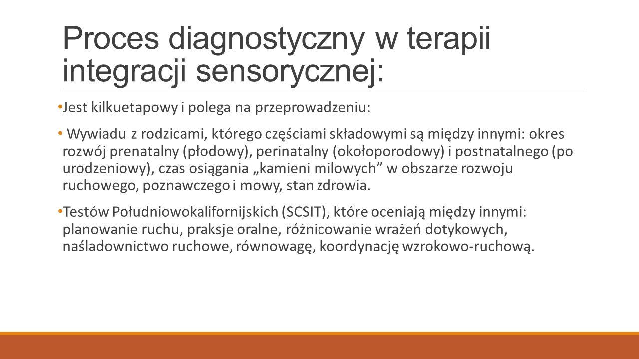 Proces diagnostyczny w terapii integracji sensorycznej:
