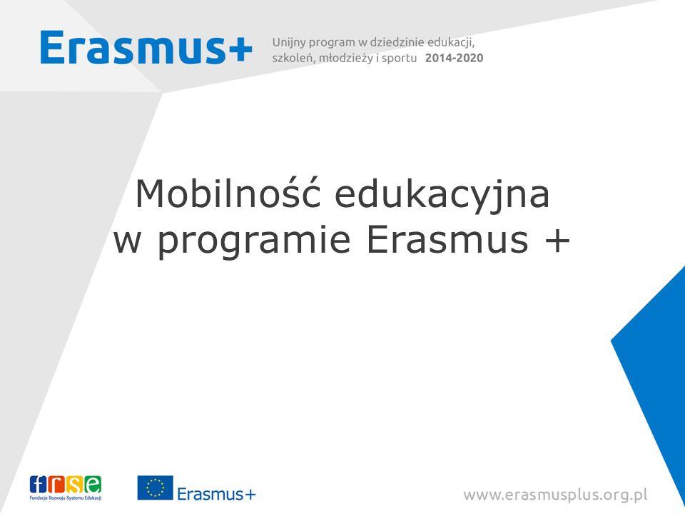 Mobilność edukacyjna w programie Erasmus +