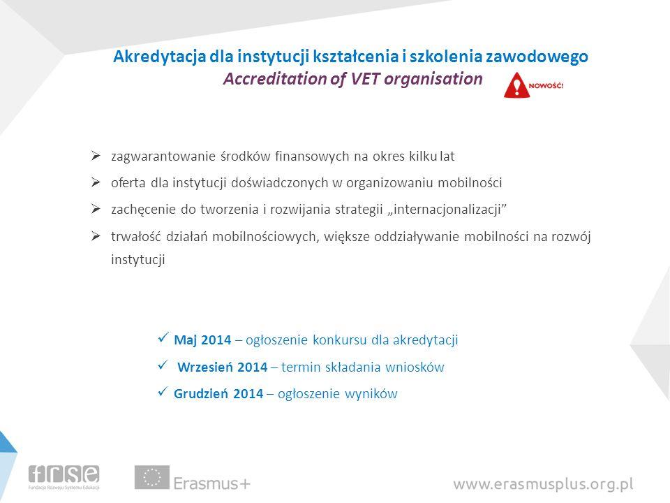 Akredytacja dla instytucji kształcenia i szkolenia zawodowego