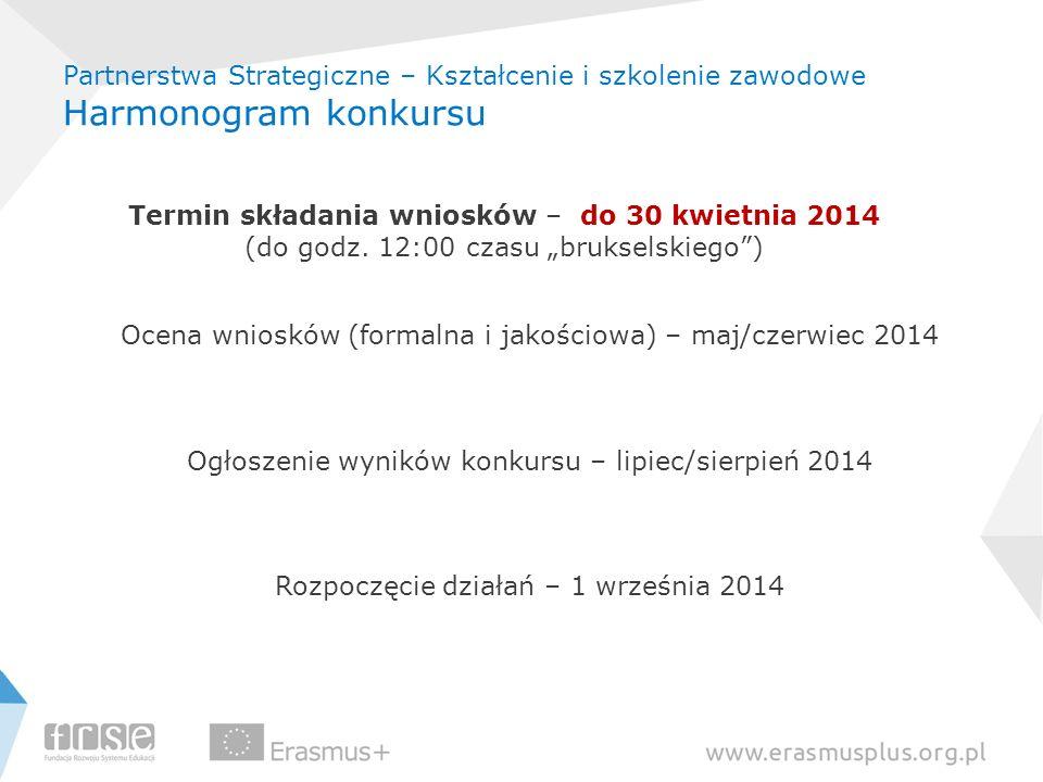 Termin składania wniosków – do 30 kwietnia 2014