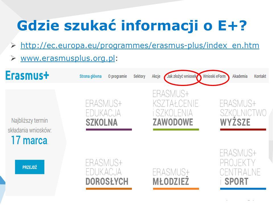 Gdzie szukać informacji o E+