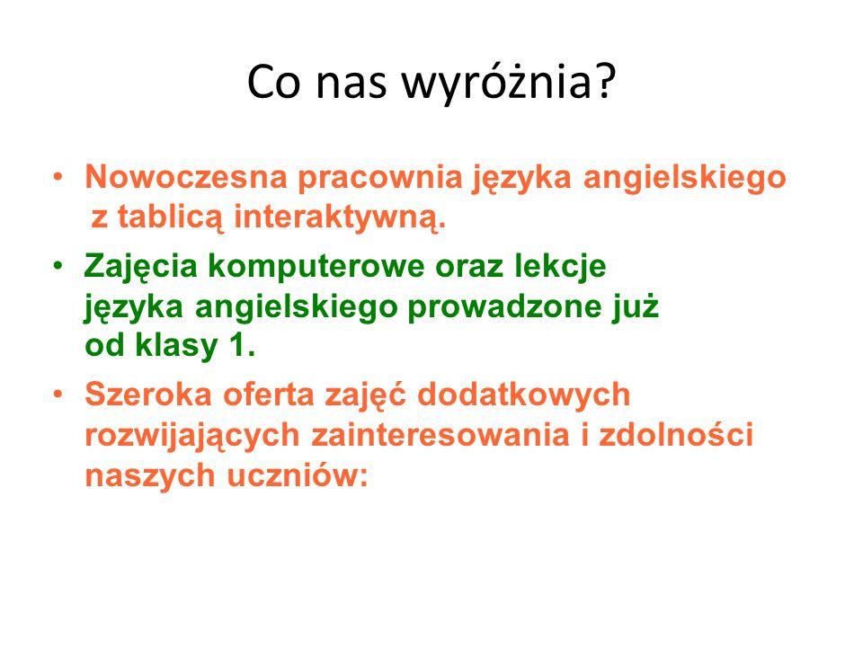 Co nas wyróżnia Nowoczesna pracownia języka angielskiego z tablicą interaktywną.