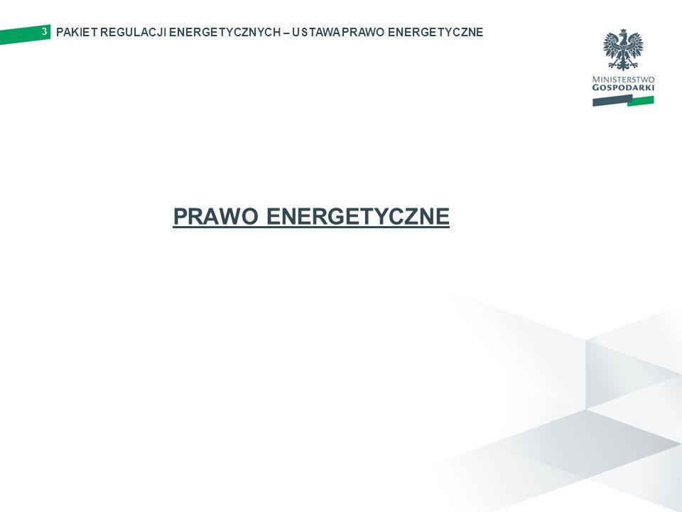 PAKIET REGULACJI ENERGETYCZNYCH – USTAWA PRAWO ENERGETYCZNE