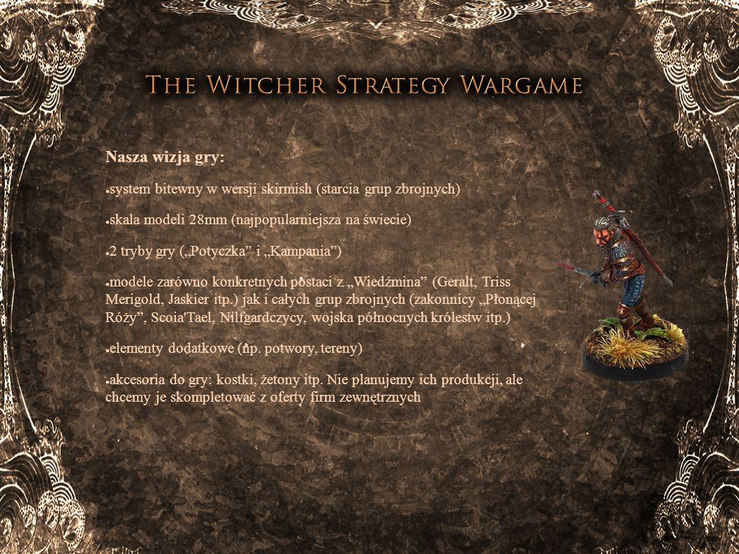 Nasza wizja gry: system bitewny w wersji skirmish (starcia grup zbrojnych) skala modeli 28mm (najpopularniejsza na świecie)