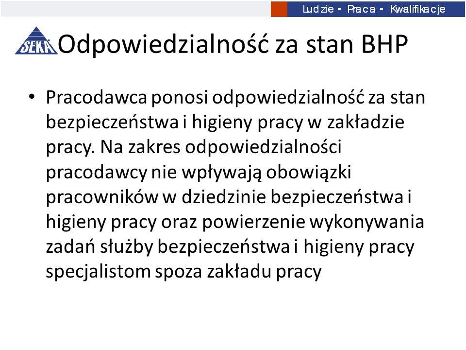 Odpowiedzialność za stan BHP