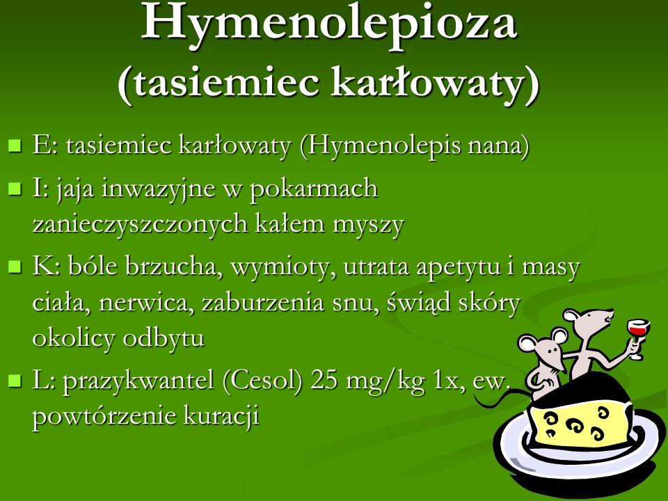 Hymenolepioza (tasiemiec karłowaty)