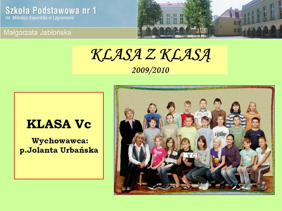 Wychowawca: p.Jolanta Urbańska