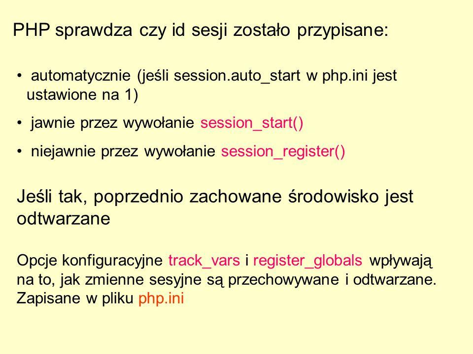 PHP sprawdza czy id sesji zostało przypisane: