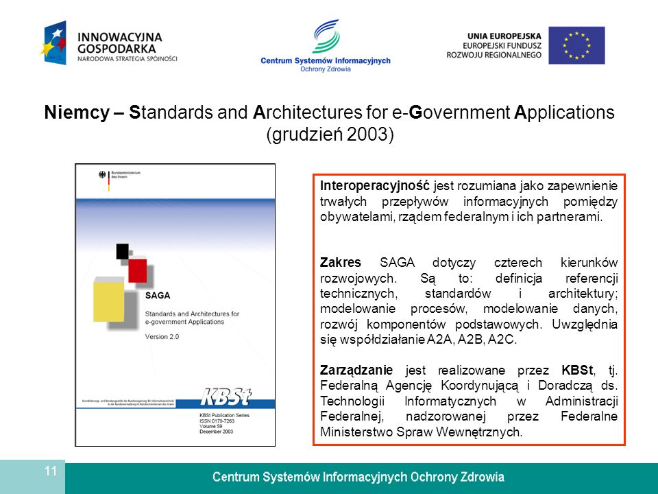 Niemcy – Standards and Architectures for e-Government Applications (grudzień 2003)