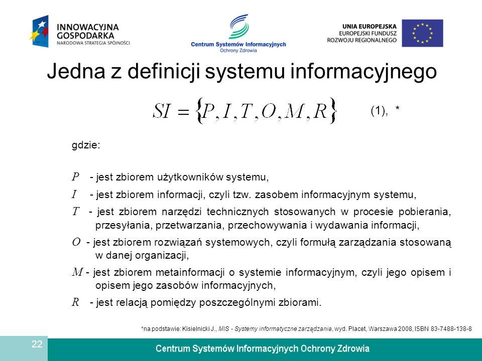 Jedna z definicji systemu informacyjnego