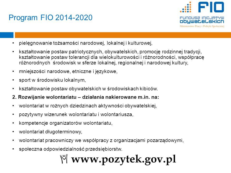 Program FIO 2014-2020 pielęgnowanie tożsamości narodowej, lokalnej i kulturowej,