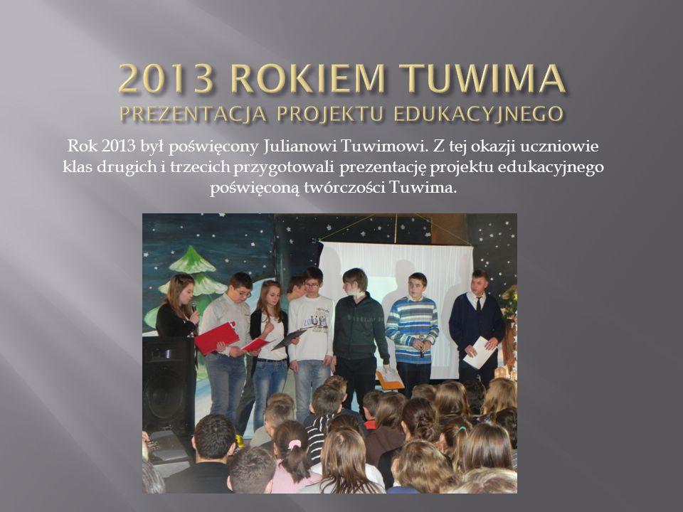 2013 ROKIEM TUWIMA PREZENTACJA PROJEKTU EDUKACYJNEGO
