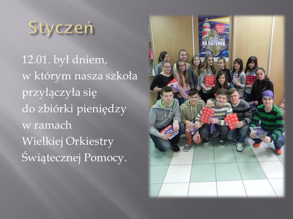 Styczeń 12.01. był dniem, w którym nasza szkoła przyłączyła się
