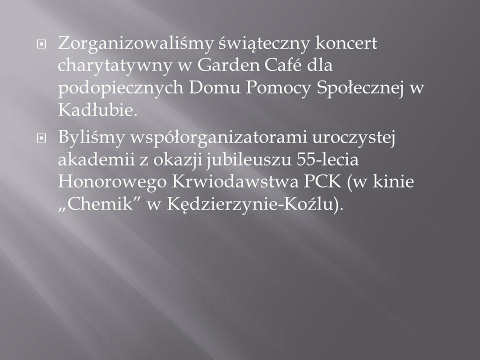 Zorganizowaliśmy świąteczny koncert charytatywny w Garden Café dla podopiecznych Domu Pomocy Społecznej w Kadłubie.