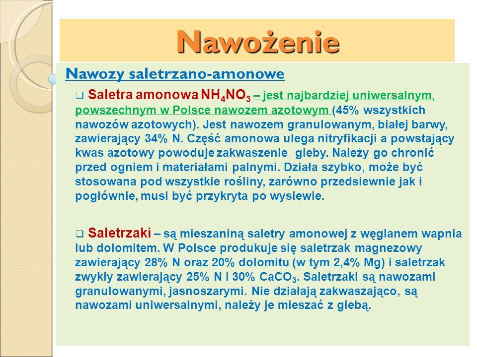 Nawożenie Nawozy saletrzano-amonowe