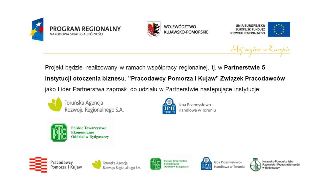 Projekt będzie realizowany w ramach współpracy regionalnej, tj