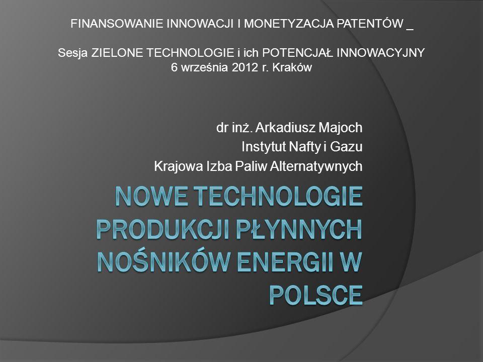 Nowe technologie produkcji płynnych nośników energii w Polsce