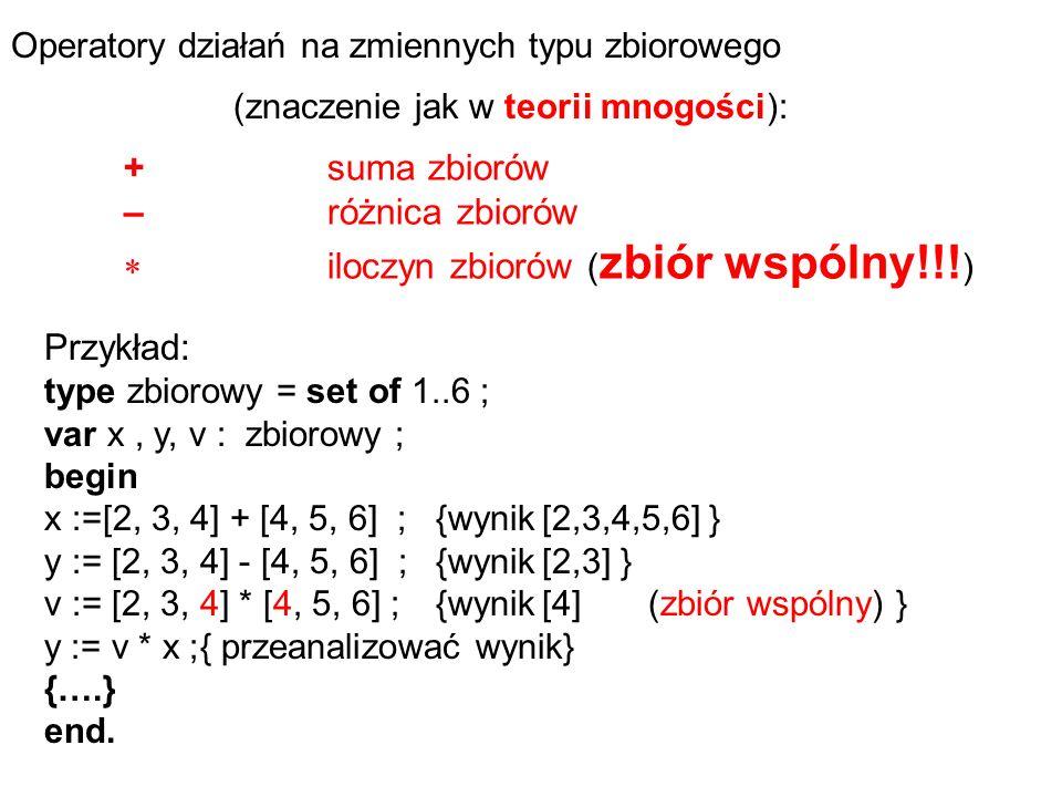  iloczyn zbiorów (zbiór wspólny!!!)