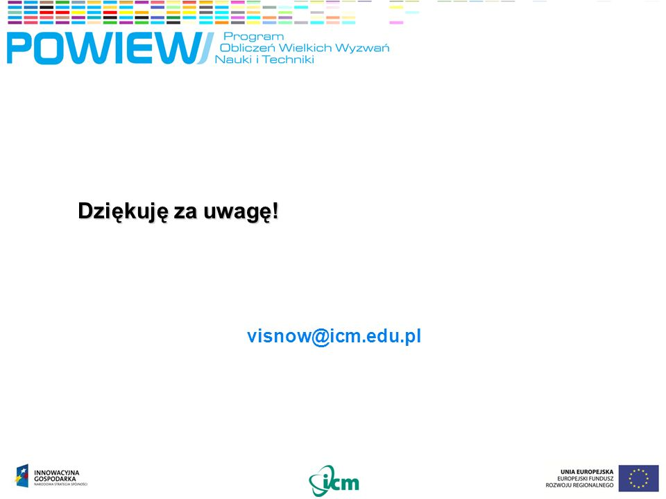 Dziękuję za uwagę! visnow@icm.edu.pl