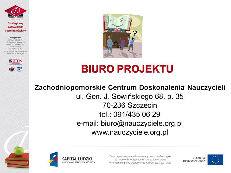 BIURO PROJEKTU ul. Gen. J. Sowińskiego 68, p. 35 70-236 Szczecin