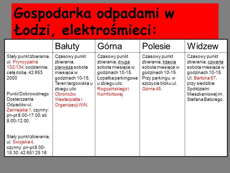 Gospodarka odpadami w Łodzi, elektrośmieci: