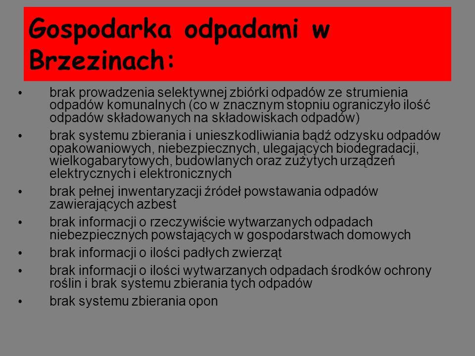 Gospodarka odpadami w Brzezinach:
