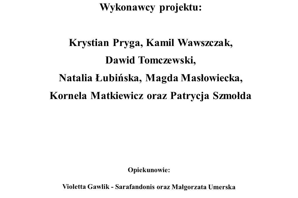 Opiekunowie: Violetta Gawlik - Sarafandonis oraz Małgorzata Umerska