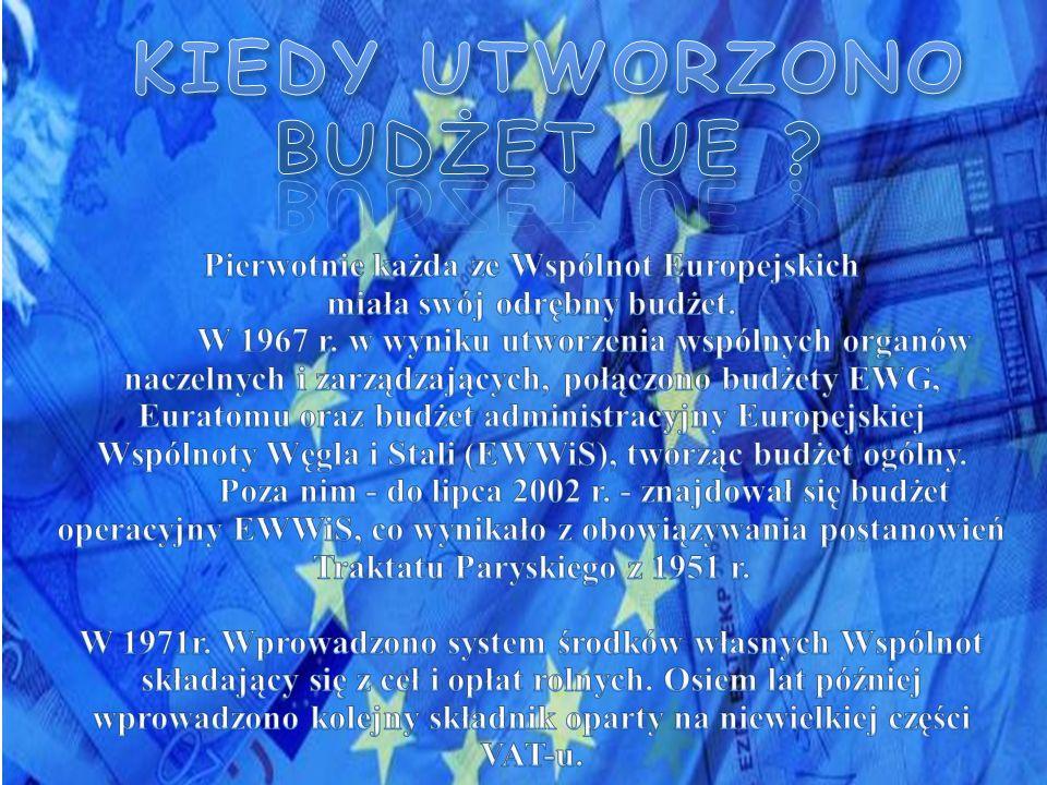 KIEDY UTWORZONO BUDŻET UE
