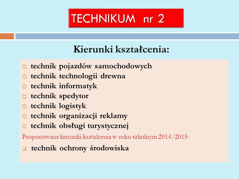 Kierunki kształcenia: