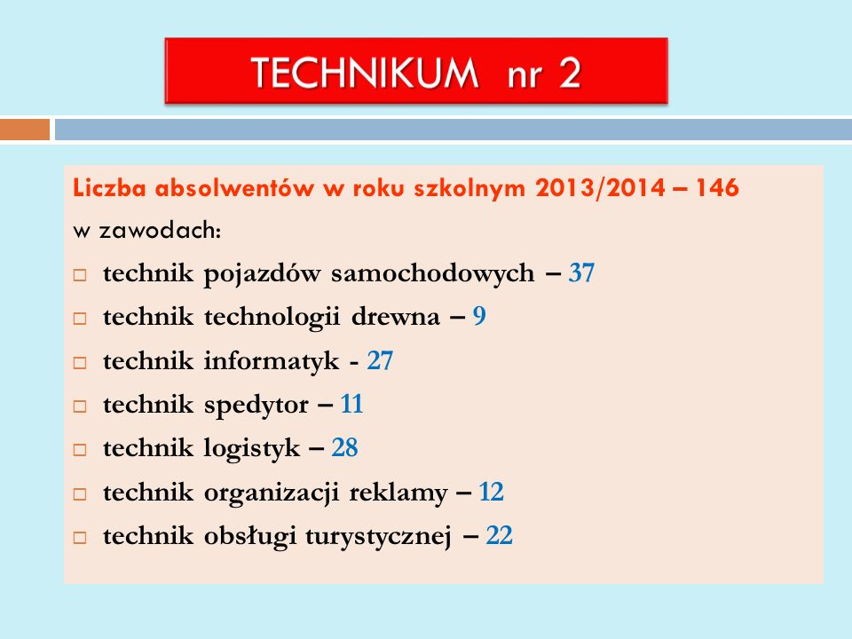 TECHNIKUM nr 2 technik pojazdów samochodowych – 37