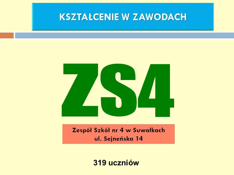 KSZTAŁCENIE W ZAWODACH Zespół Szkół nr 4 w Suwałkach