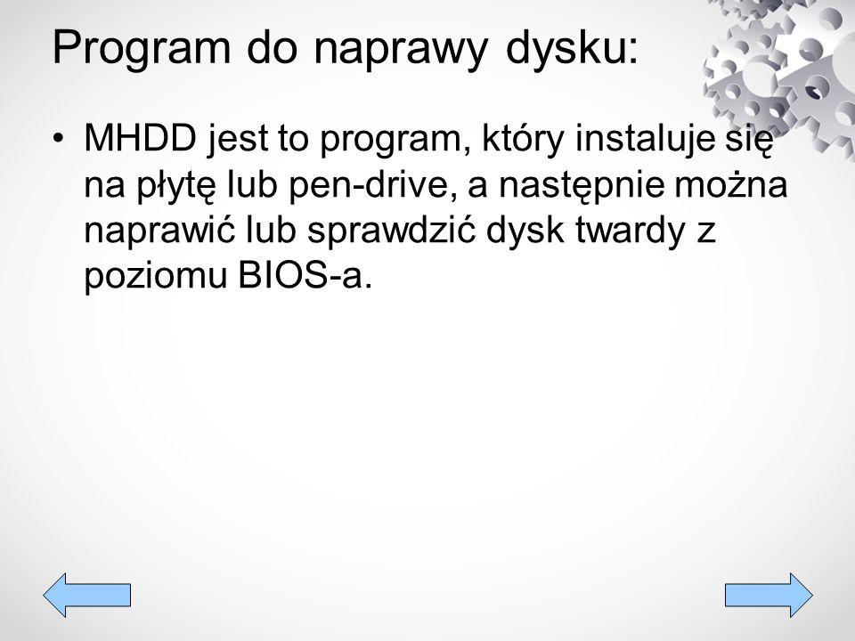 Program do naprawy dysku: