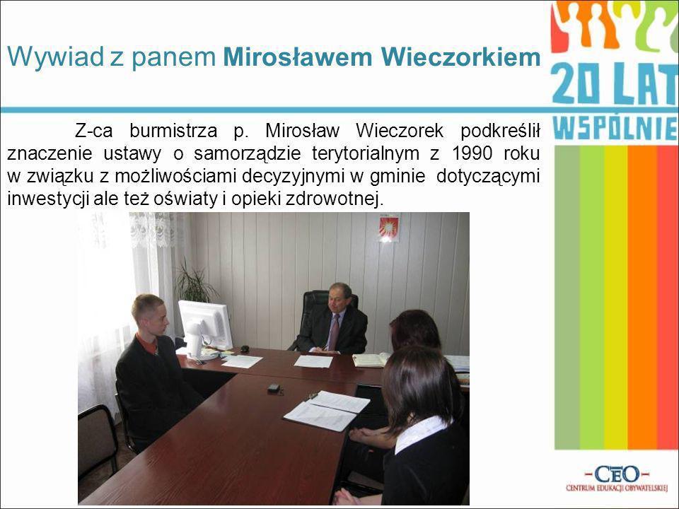 Wywiad z panem Mirosławem Wieczorkiem