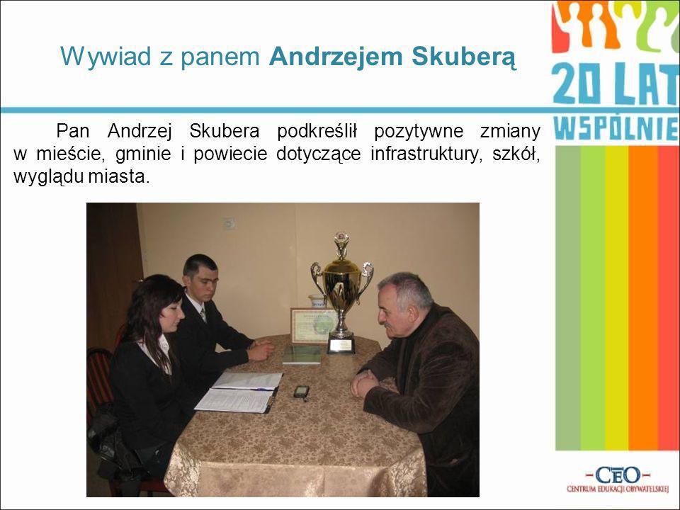 Wywiad z panem Andrzejem Skuberą